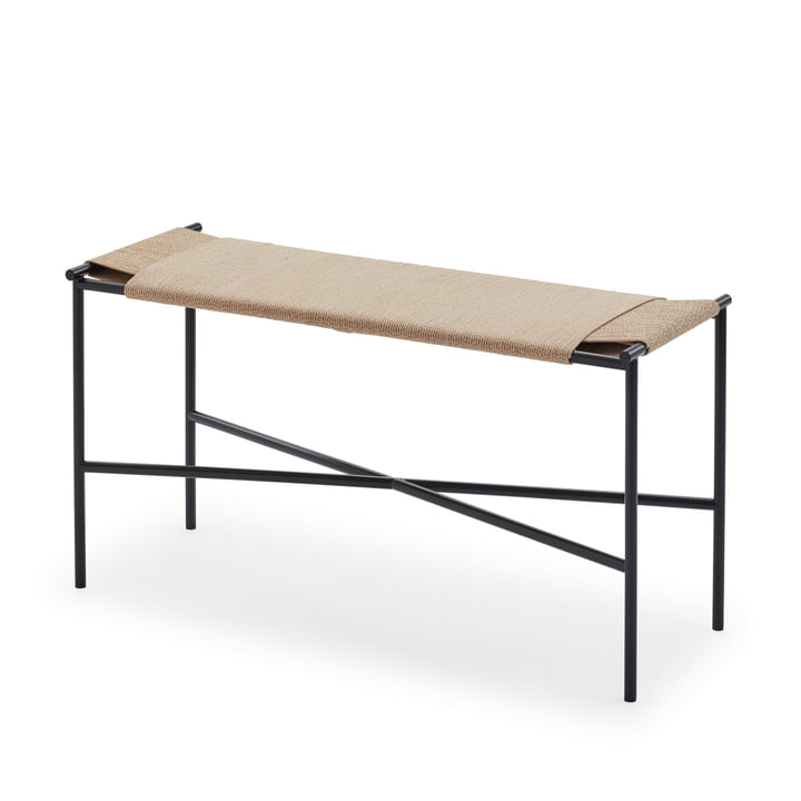 Vent bench from Skagerak in black / nature