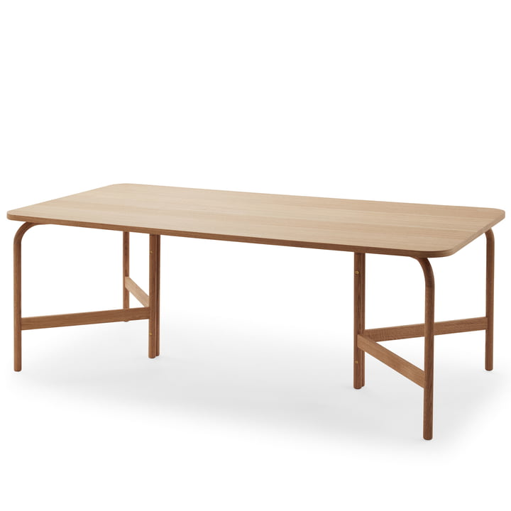 Aldus dining table 200 × 100 cm from Skagerak in oak oiled