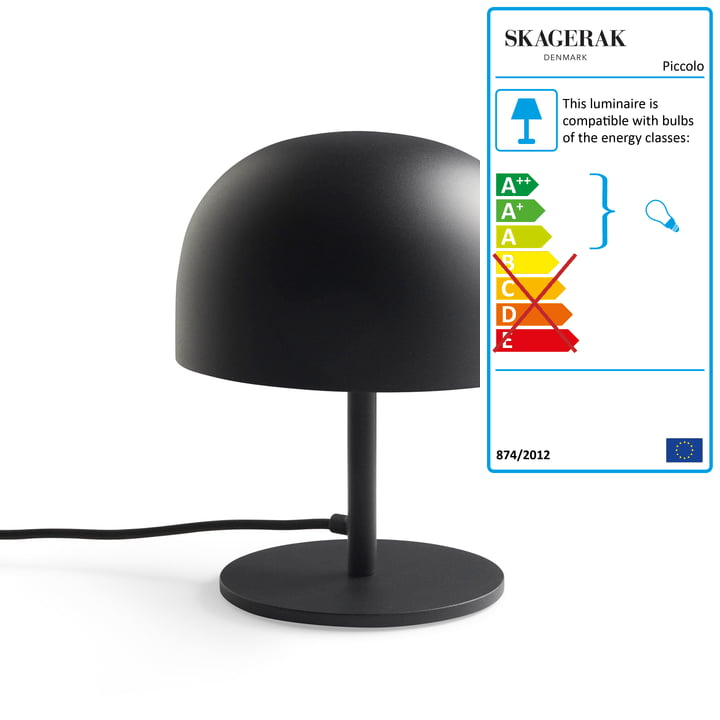 Piccolo table lamp Ø 19,5 x H 24,5 cm from Skagerak in black