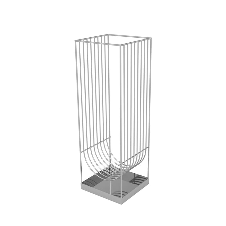 Curva Umbrella Stand from AYTM in silver