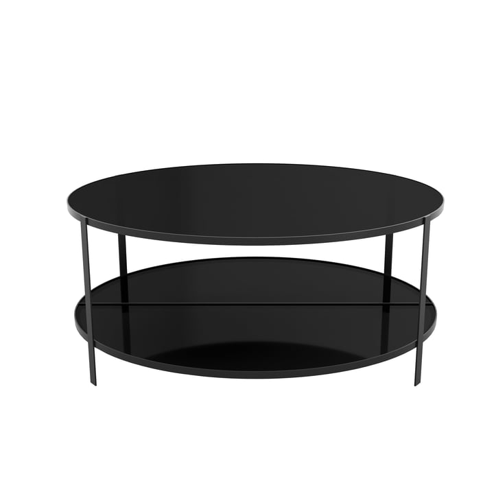 Fumi coffee table Ø 90 x H 37 cm from AYTM in black