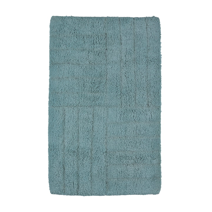 Classic bathroom mat 80 x 50 cm from Zone Denmark in petrol green