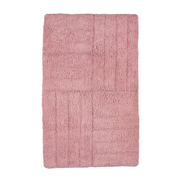 Classic bathroom mat 80 x 50 cm from Zone Denmark in rose