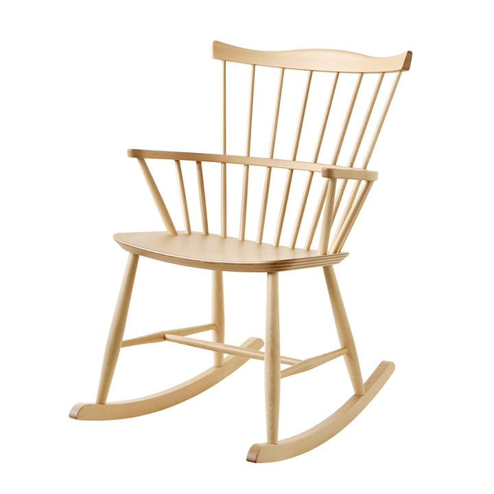 J52G Rocking chair by FDB Møbler in oak clear varnished