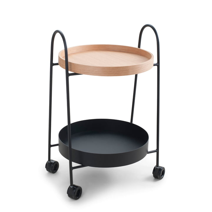 Rocks serving trolley from Zone Denmark in oak / black