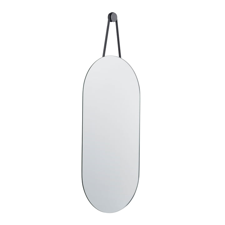 A-series wall mirror oval 60 x 30 cm from Zone Denmark in black