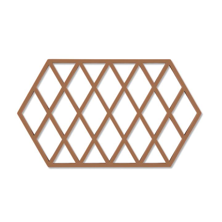 Harlequin coaster 24 x 14 cm from Zone Denmark in cinnamon