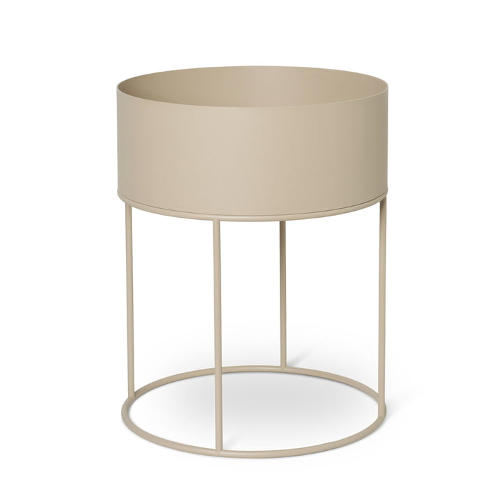Plant Box round from ferm Living in cashmere