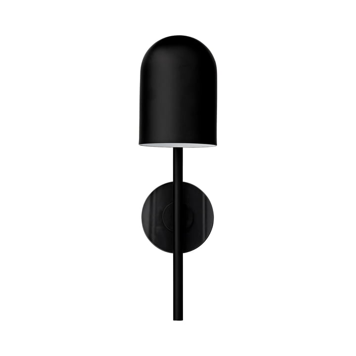 Luceo wall lamp, Ø 12 x H 45 cm, black / clear by AYTM