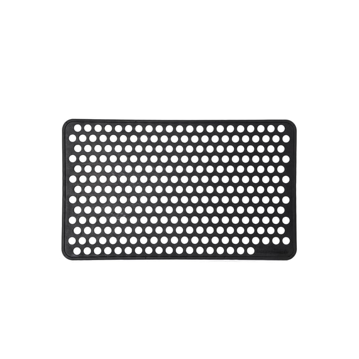 Rubber foot doormat 45 x 75 cm dot from tica copenhagen in black