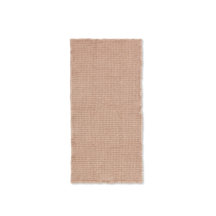 Organic towel 100 x 50 cm from ferm Living in antique pink