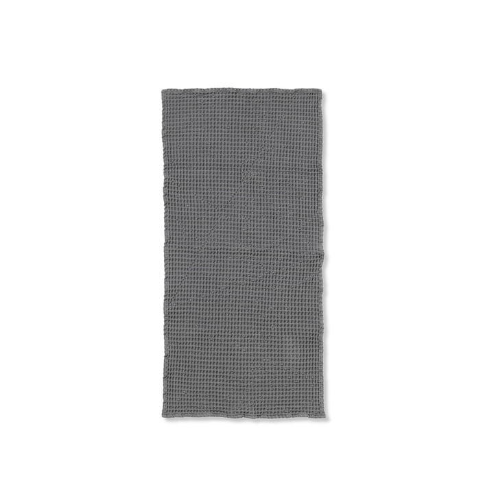 Organic towel 100 x 50 cm from ferm Living in grey