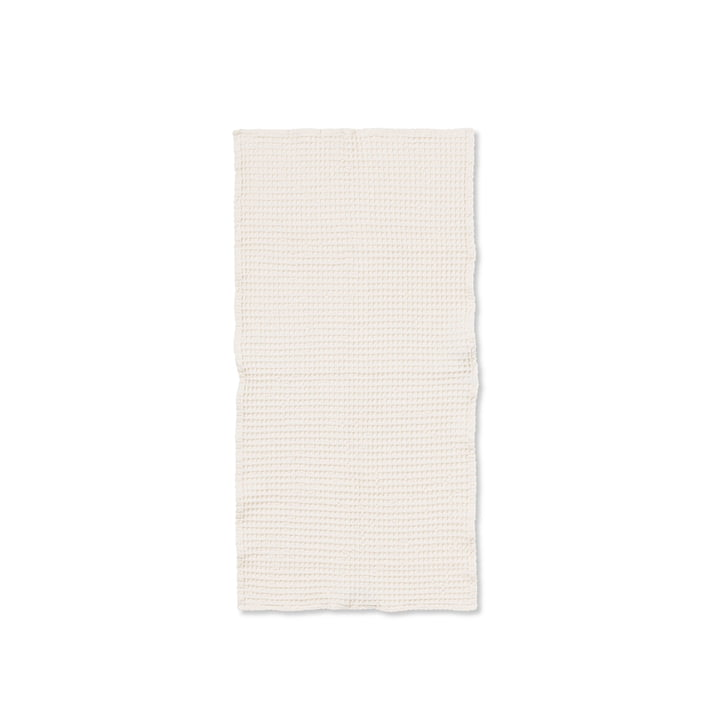Organic towel 100 x 50 cm from ferm Living in white