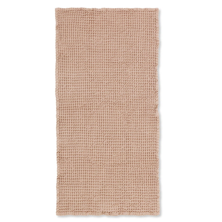 Organic bath towel 140 x 70 cm from ferm Living in old pink