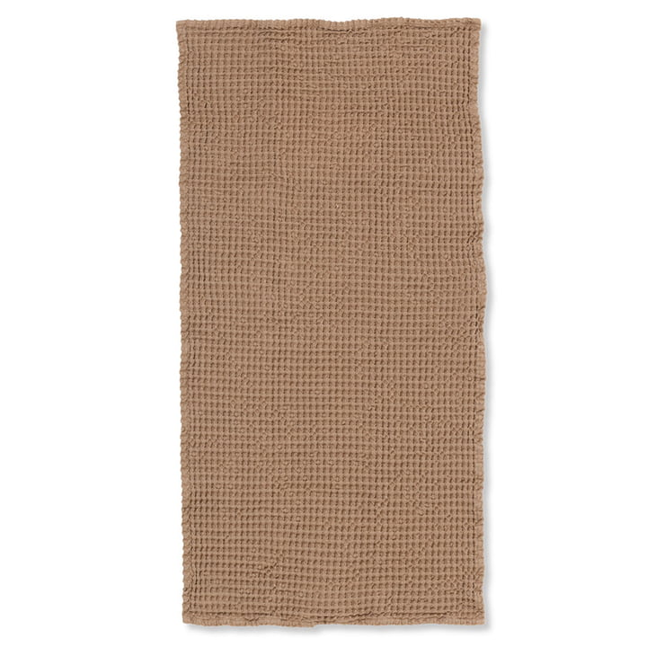 Organic bath towel 140 x 70 cm from ferm Living in brown