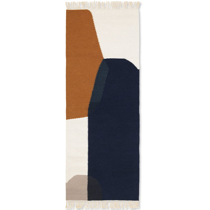 ferm Living - Kilim Mat, Merge, 70 x 180 cm