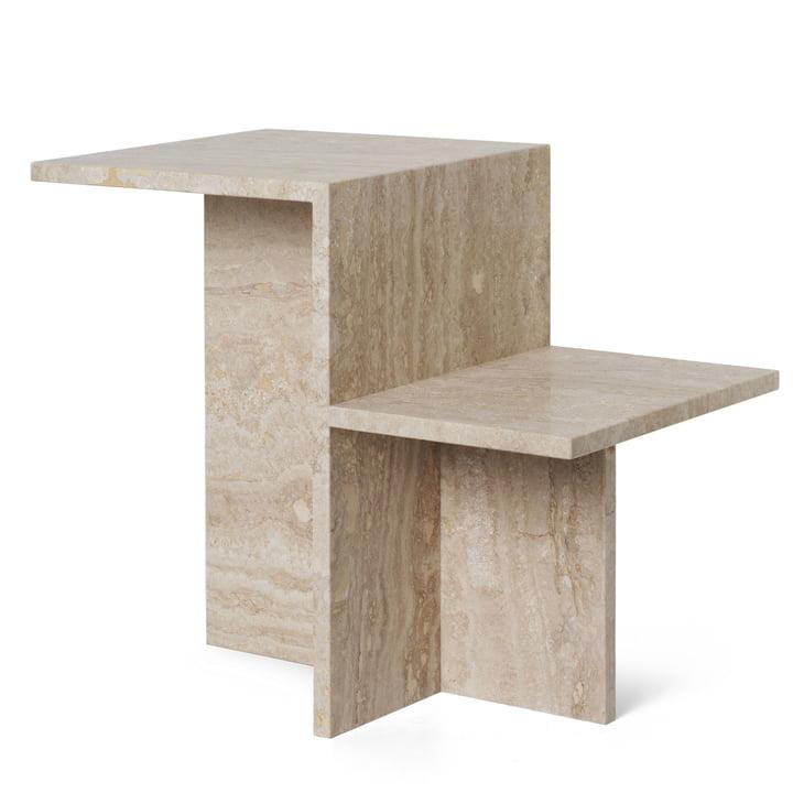 Distinct side table, travertine by ferm Living