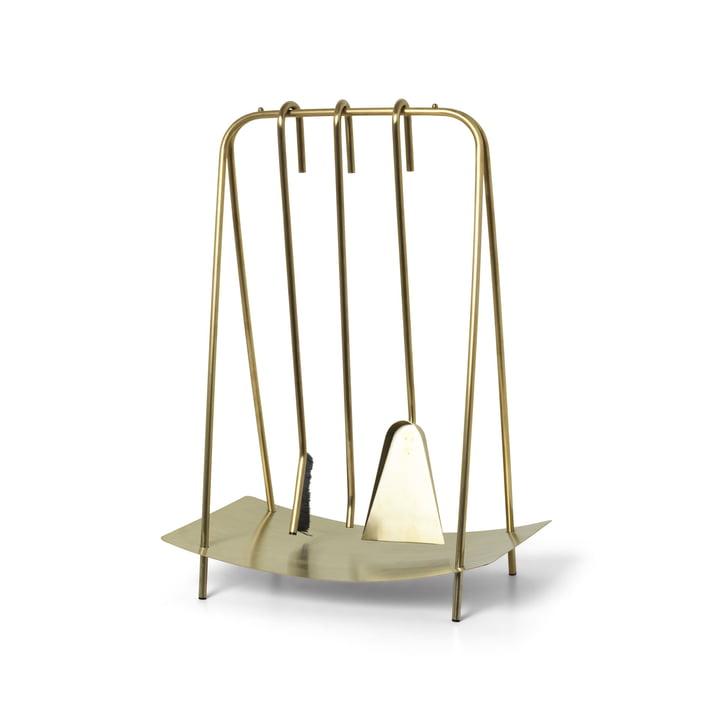 Port fireplace cutlery from ferm Living in brass