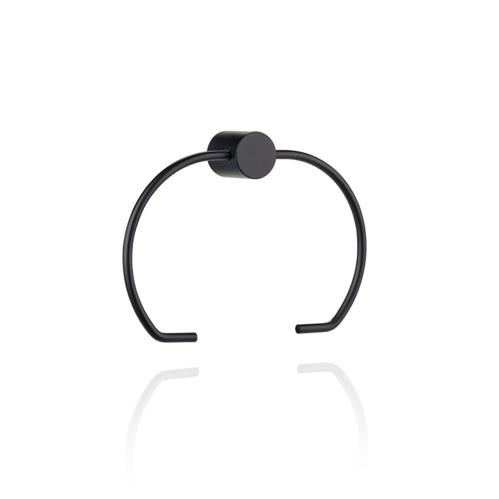 Hooked on Rings Toilet paper holder, black from Zone Denmark