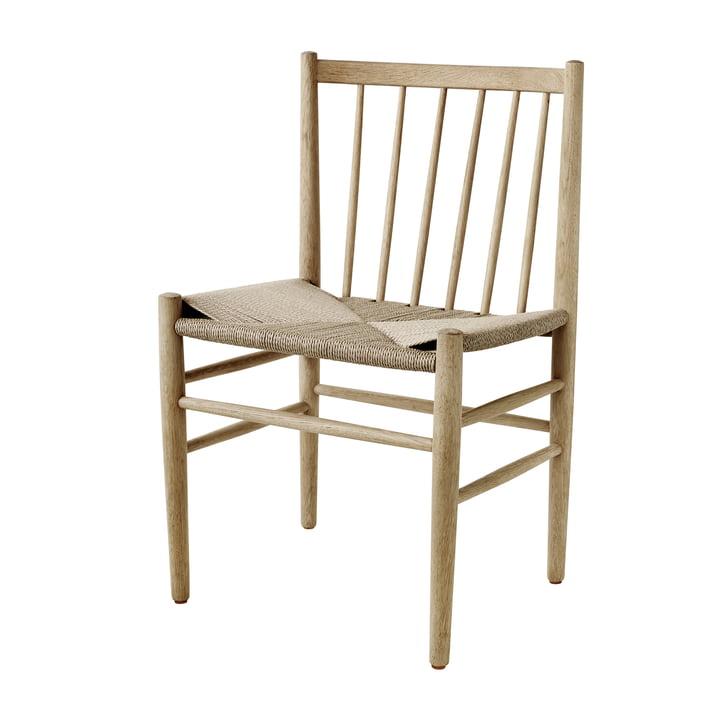 J80 Chair, matt lacquered oak / natural wickerwork by FDB Møbler