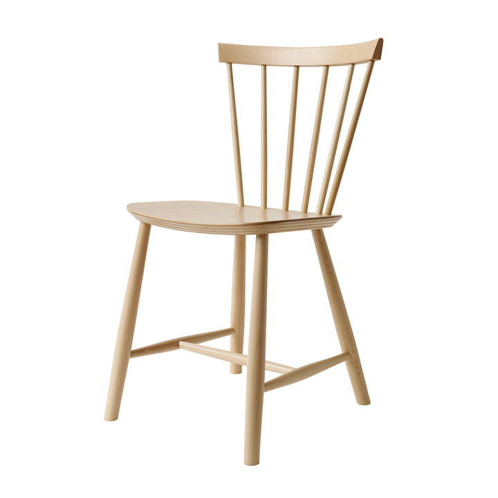 J46 Chair, natural beech by FDB Møbler
