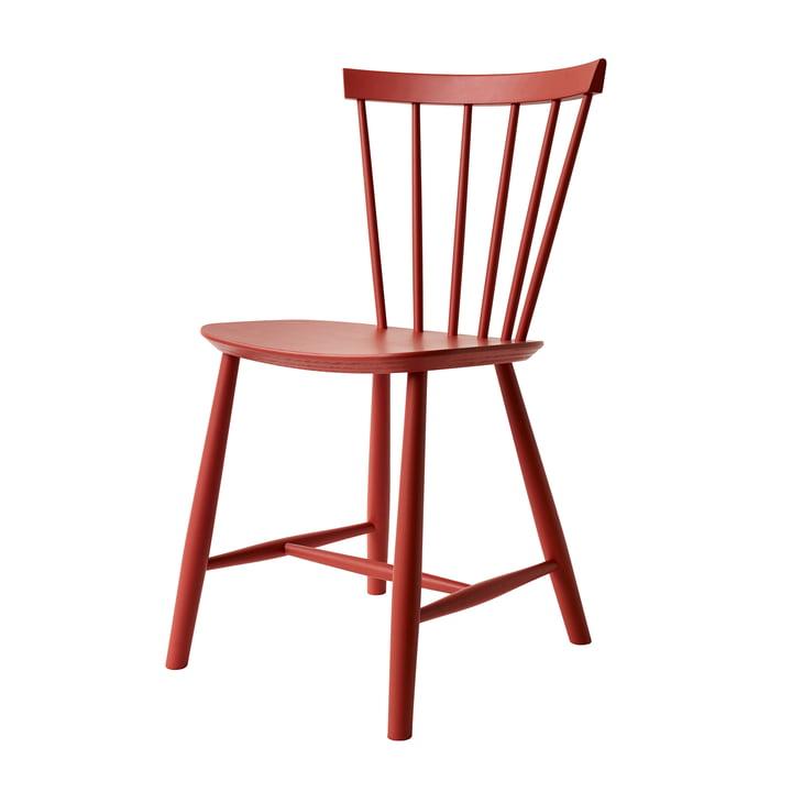 J46 Chair, beech red by FDB Møbler