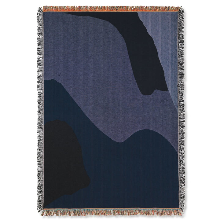 Vista blanket 120 x 170 cm from ferm Living in dark blue