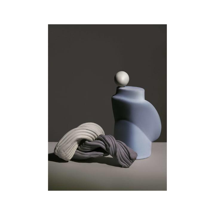 Nexus poster 1 50 x 70 cm of ferm Living in dusty blue