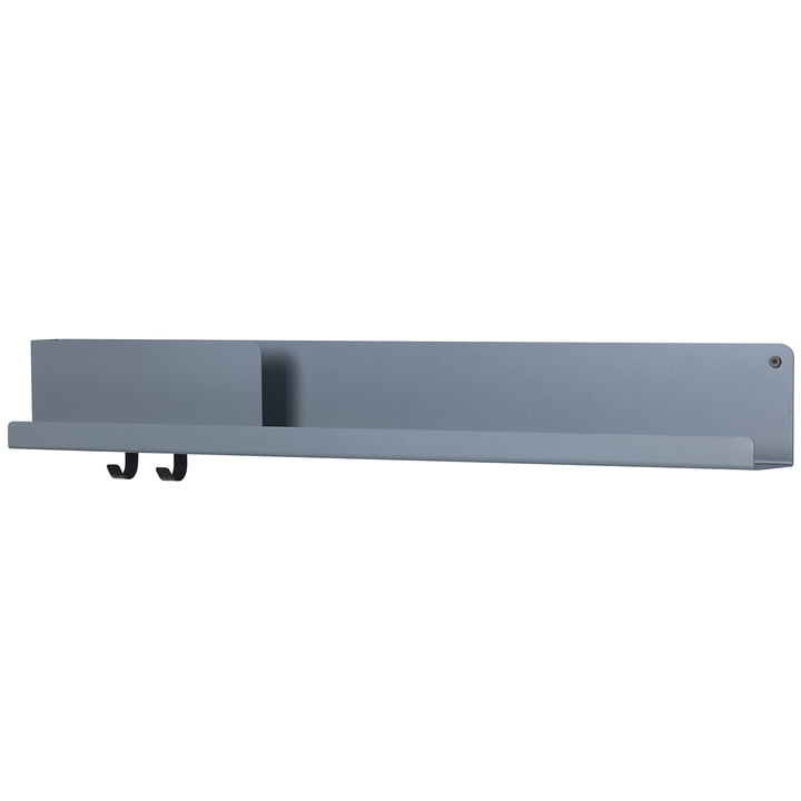 Folded Shelves 96 x 13 cm from Muuto in blue-grey
