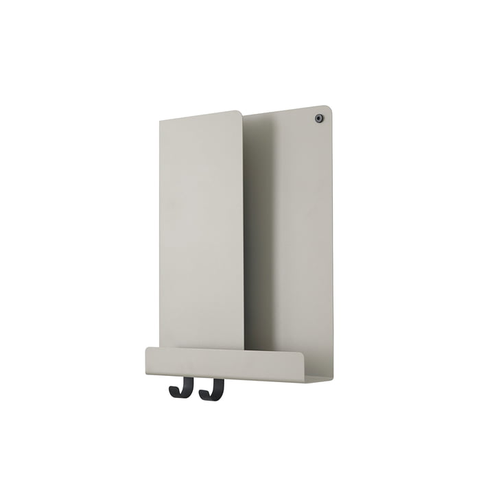 Folded Shelves 2 9. 5 x 40 cm by Muuto in grey
