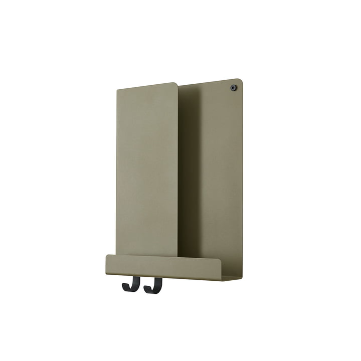 Folded Shelves 2 9. 5 x 40 cm from Muuto in olive