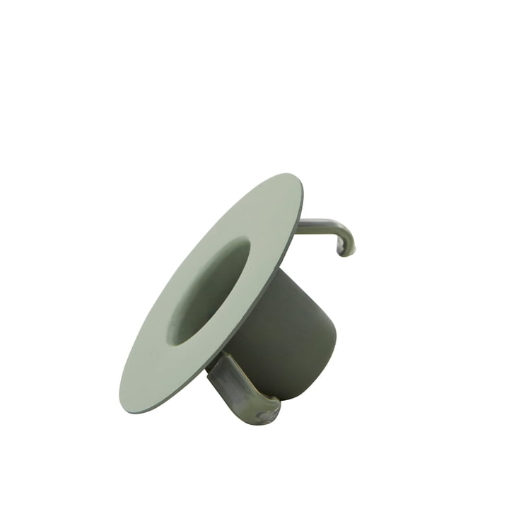 Candle holder for AJ porcelain mini mug and vase from Design Letters in green