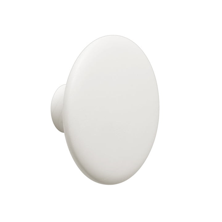 "Wall hook ""The Dots"" single medium from Muuto in off-white"