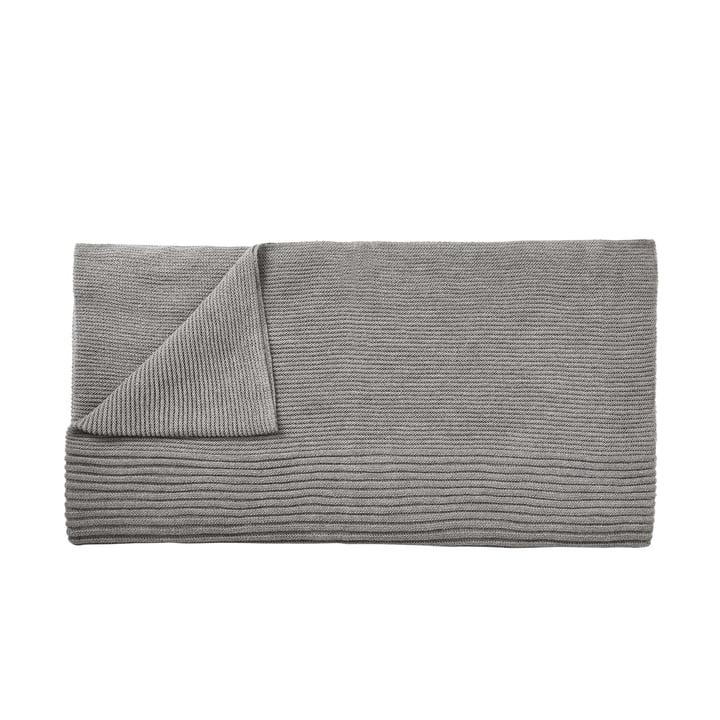 Rhythm woollen blanket 160 x 130 cm from Muuto in light grey