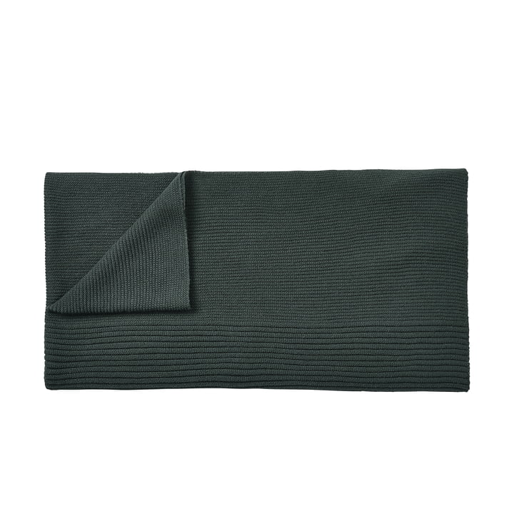 Rhythm woollen blanket 160 x 130 cm by Muuto in dark green