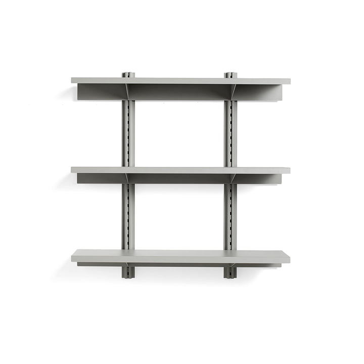 Standard Issue wall shelf 3 shelves 120 cm from Hay in sky grey