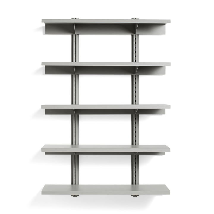 Standard Issue wall shelf 5 shelves 120 cm from Hay in sky grey
