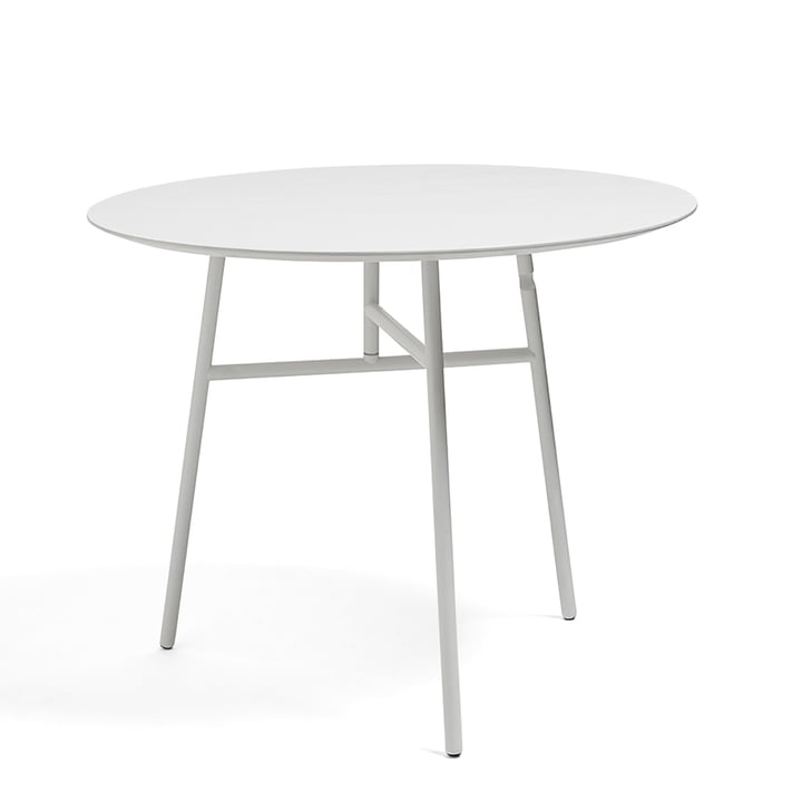 Tilt folding table Ø 90 x H 74 cm by Hay in white