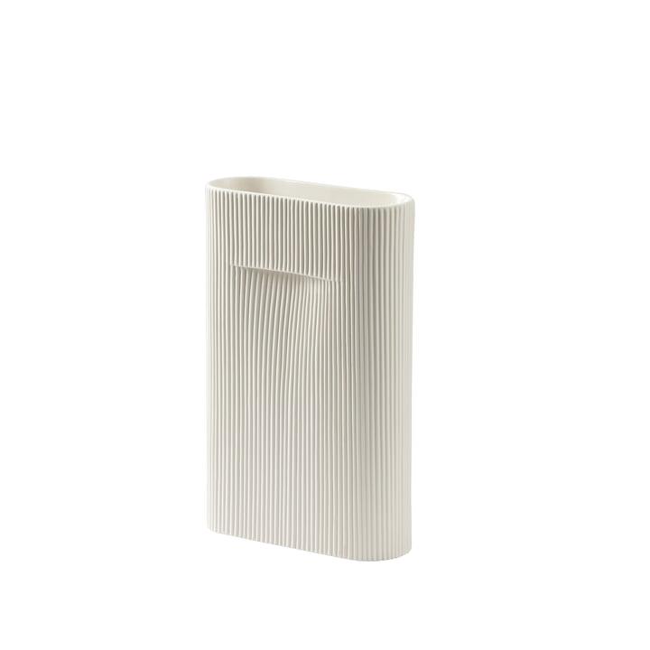 Ridge Vase H 35 cm from Muuto in off-white