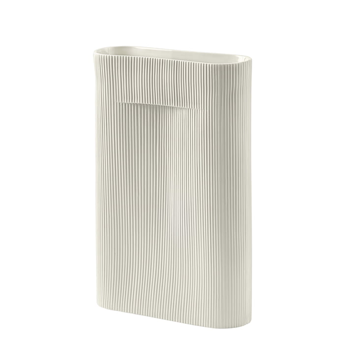 Ridge Vase H 48,5 cm from Muuto in off-white