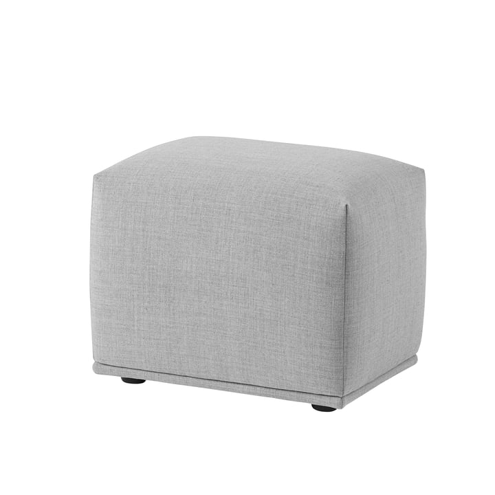 Echo Pouf 52 x 38 cm by Muuto in light grey (Remix 123)