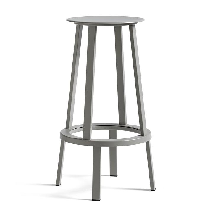 Revolver bar stool H 76 cm from Hay in sky grey