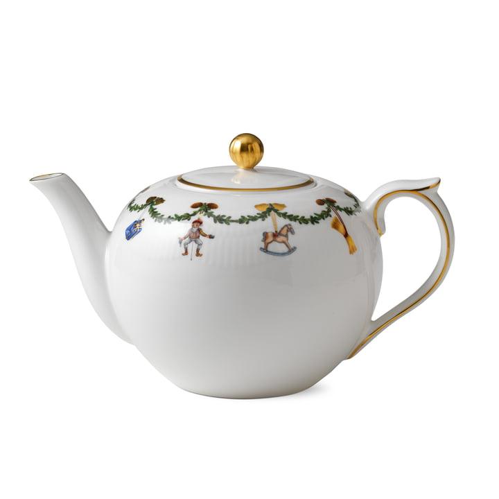 Star Fluted Christmas Teapot 1,4 cl from Royal Copenhagen