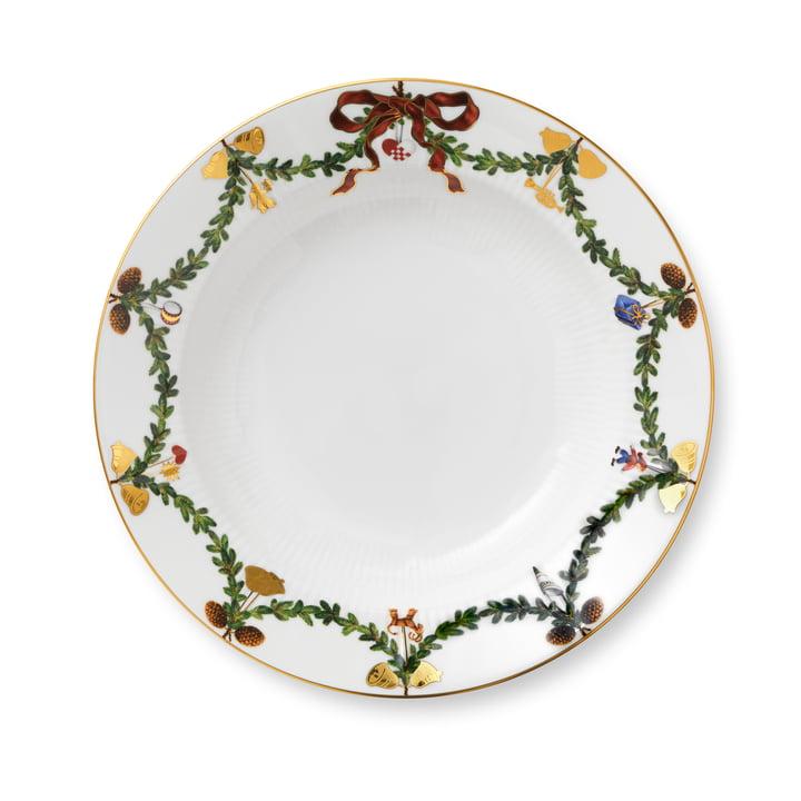 Star Fluted Christmas deep plate Ø 24 cm from Royal Copenhagen