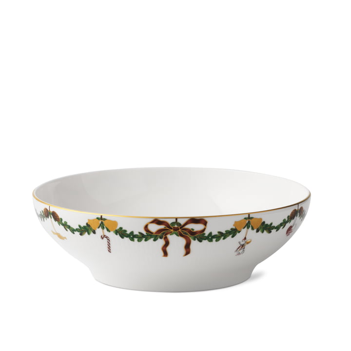 Star Fluted Christmas serving bowl 220 cl from Royal Copenhagen