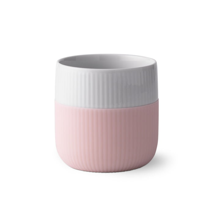 Fluted Contrast ribbed cup 33 cl from Royal Copenhagen in dahlie