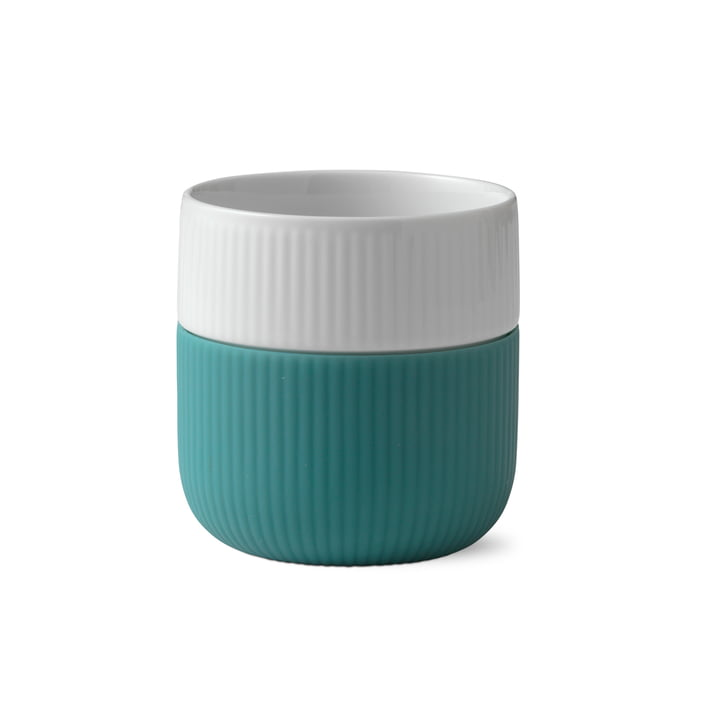 Fluted Contrast cup ribbed 33 cl from Royal Copenhagen in opal