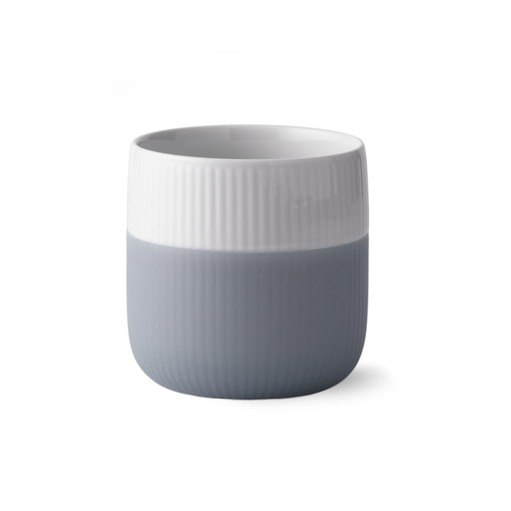 Fluted Contrast cup ribbed 33 cl from Royal Copenhagen in thunder