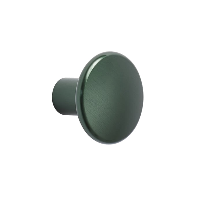 """Wall hook """"The Dots Metal"""" single small from Muuto in dark green"""