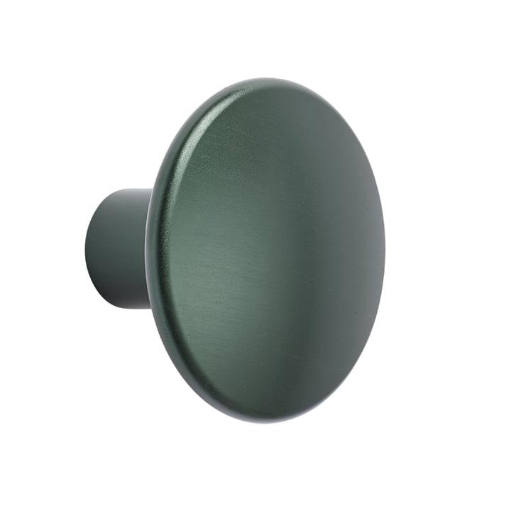 "Wall Hook ""The Dots Metal"" single medium by Muuto in dark green"